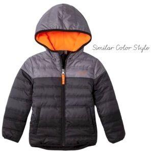 C9 by Champion Boys Gray Orange Puffer Jacket 3T